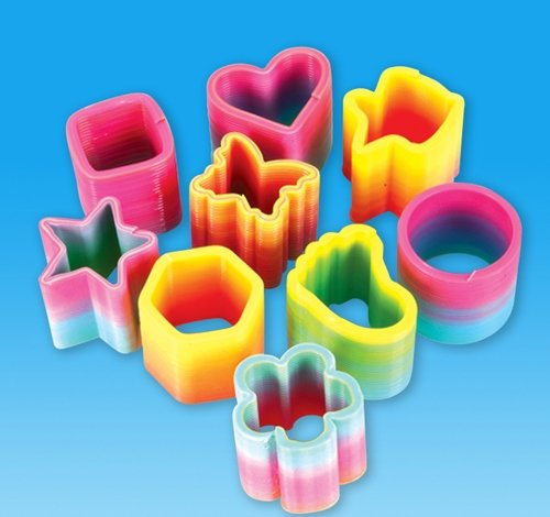 1.5'' RAINBOW COIL SPRING ASSORTMENT, Case of 10
