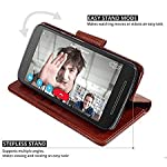D-Kandy for, Vintage Leather Flip Wallet Case Stand with Card Holder & Magnetic Closure Flip Samsung Galaxy S21 Ultra 5G…