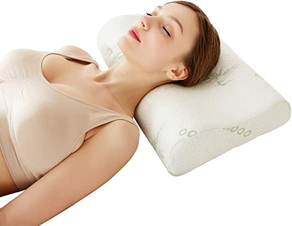 Cervical Contour Bamboo Neck Pillow