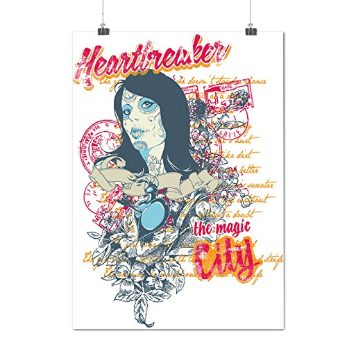 Heart Breaker Magic City Woman Matte/Glossy Poster A4 (9x12 inches) | Wellcoda (Spring Breaker Halloween Costume)