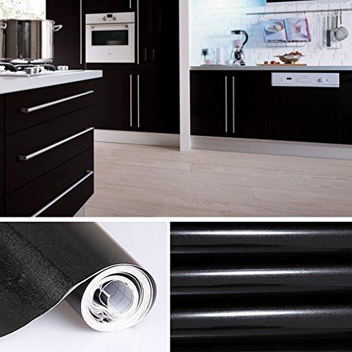 INDIGOS UG - Aufkleber für Küchenschränke 63x500cm GLANZ - weiß ...