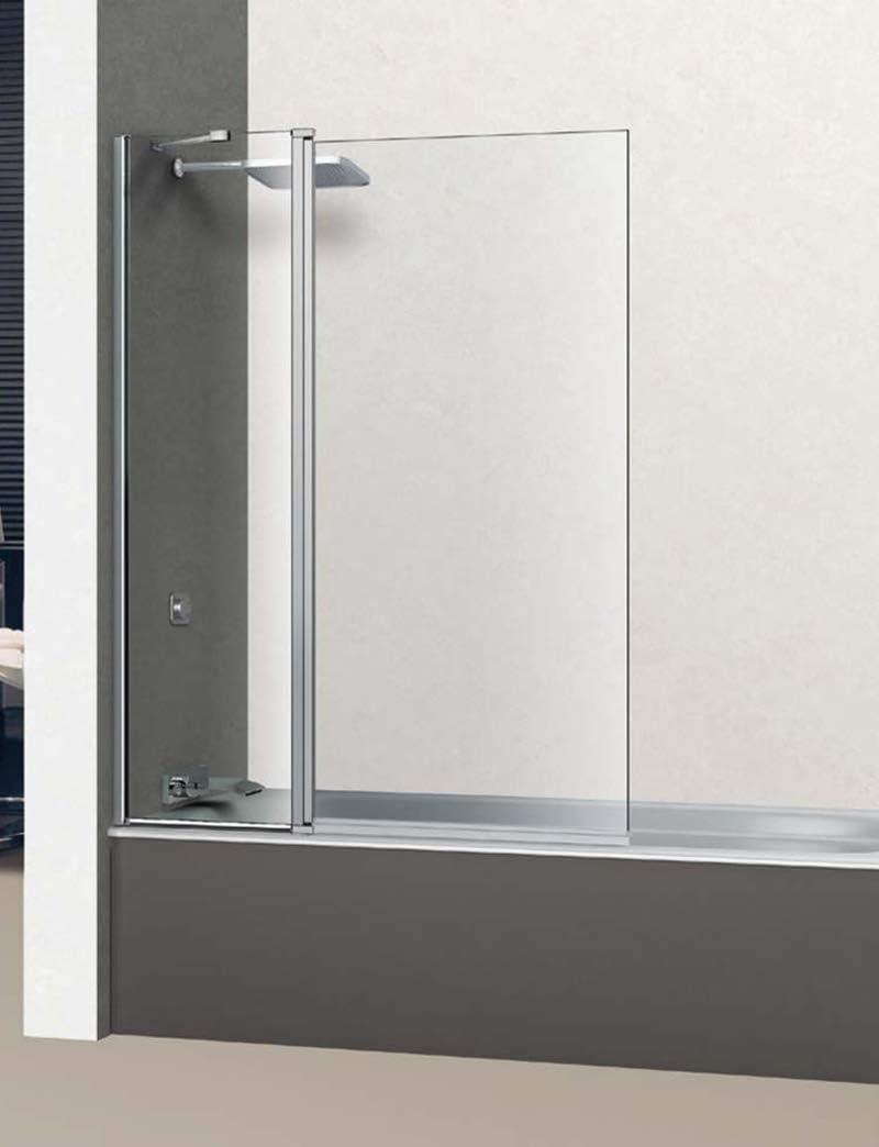 Mampara de Bañera Frontal - 1 Hoja fija + 1 hoja abatible 180º - Cristal de Seguridad 6 mm - ANTICAL INCLUIDO - Modelo GROVE |BAÑO| - (105 (45+60)): Amazon.es: Bricolaje y herramientas