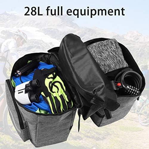 自転車用バッグフレーム用大容量自転車用バッグレインカバー耐摩耗性バイラテラルパック自転車用バッグ反射性ストリップの安全性28L自転車用バッグ