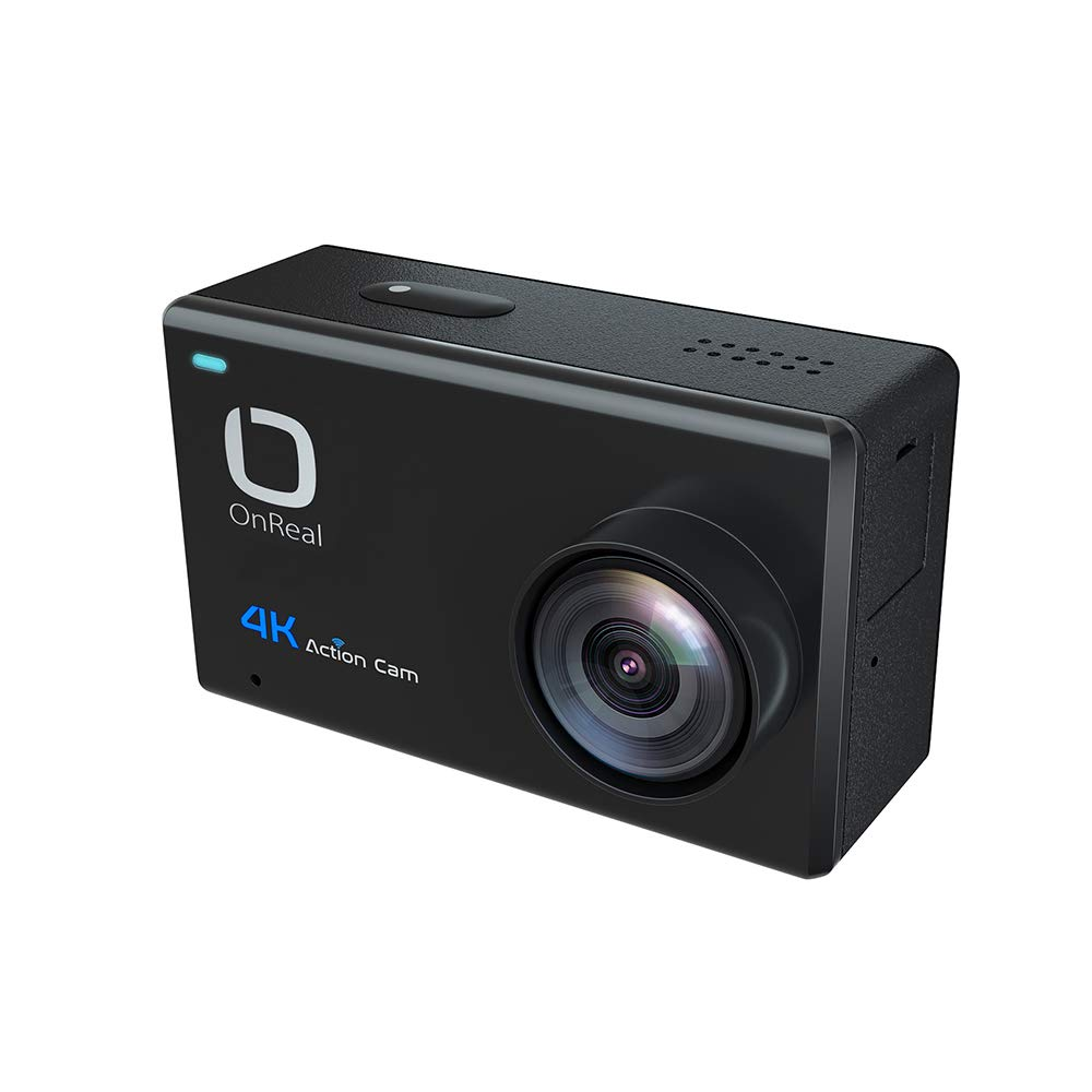 OnReal 4K Action Camera Waterproof Camera Touch Screen 170 Degree Viewing Angle Lens Support iOS Android Phone App