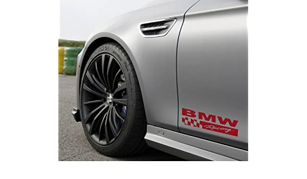 4pcs Door Handle Decal sticker for BMW Motorsport M M3 M5 M6 325 Two Tone logo