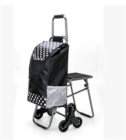 FFJTS Carro de la compra que sube el carro plegable del equipaje Carro portátil con los