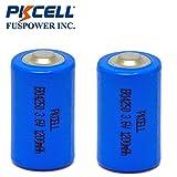 ER14250 3.6V 1200mAh 1/2AA Size Li-SOCl2 Lithium Batteries (2)