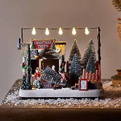 Battery Operated LED Light Up Christmas Village Scene Lights4fun Inc.