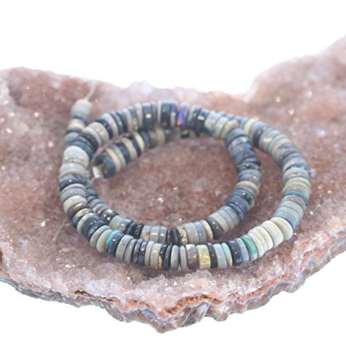 AUSTRALIAN OPAL BEADS Lightning Ridge Heshi 4.7-5.5mm 9