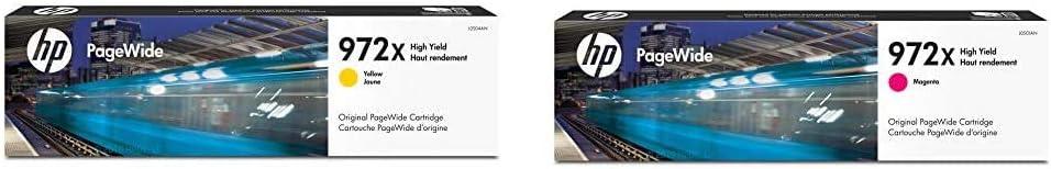 HP 972X | PageWide Cartridge High Yield | Yellow | L0S04AN & 972X | PageWide Cartridge High Yield | Magenta | L0S01AN