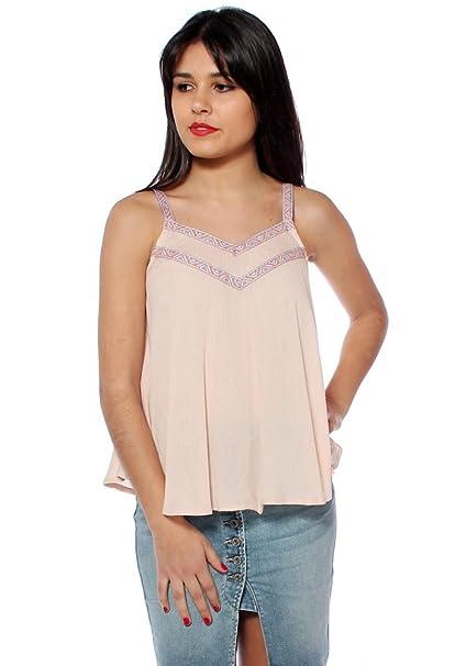 Uve Moda Blusa para mujer rosa pastel Large