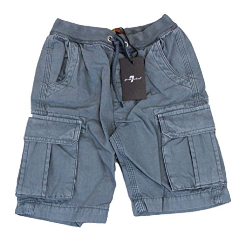 7 For All Mankind - Comfortable Cargo Boys Shorts w/Athletic Waistband, Easy Tie [6 Pockets] - 100% Cotton - Sizes 4-16