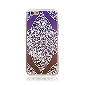 iPhone 6 Plus Case, Simlcase Ultra Thin TPU Clear Case Crystal Rubber Flexible Soft Back Case Cover for Apple iPhone 6 Plus (Purple Flower)