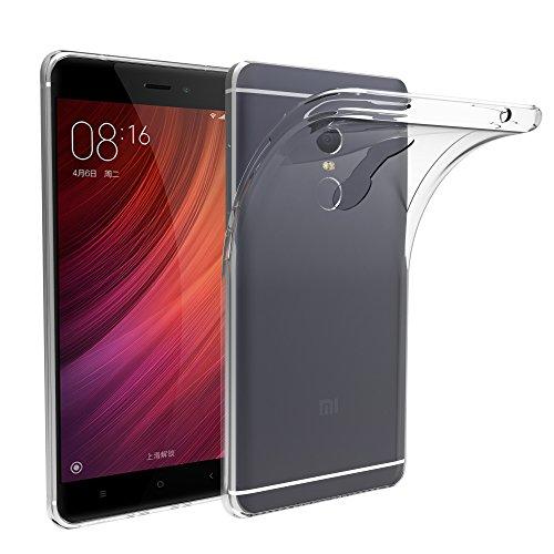 Xiaomi Redmi Note 4 Funda, iVoler TPU Silicona Case Cover Dura Parachoques Carcasa Funda Bumper para Xiaomi Redmi Note 4, [Ultra-delgado] [Shock-Absorción] [Anti-Arañazos] [Transparente]- Garantía Incondicional de 18 Meses