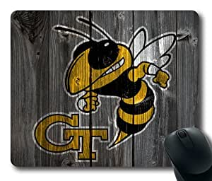 Georgia Tech Yellow Jackets Wood Look Mouse Pad, Customized Rectangle Mousepad Diy By Bestsellcase