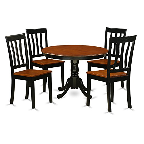 East West Furniture HLAN5-BCH-W 5Piece Hartland Set with One