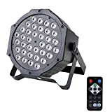 U`King RGB Par Lights 36 led for Stage Lighting by IR Remote and DMX Controller