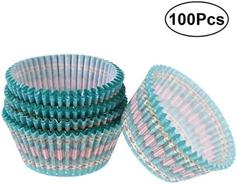 WINOMO ベーキングカップ ケーキ カップ マフィン型 100枚 6.8cm