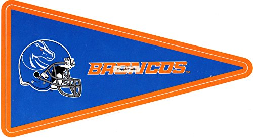 (6 Inch BSU Broncos Logo Pennant Flag Boise State University Removable Wall Decal Sticker Art NCAA Home Room Decor 6 1/2 by 3 1/2 Inches)