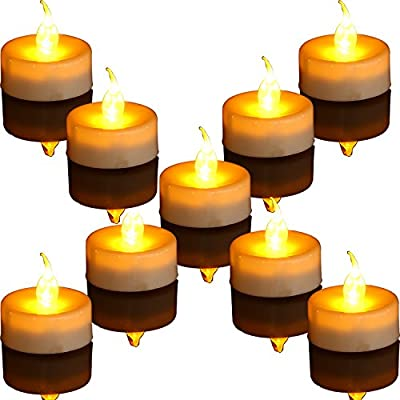 Innovator Flameless Candles with Remote and Timer,CR2450 Battery Powered, Realistic and Bright tealight,Pack of 12,Holiday Home Atmosphere Lights(Amber)