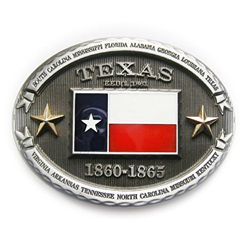 Patriotic Cowboy Rodeo The Lone Star State Of Texas Flag Belt Buckle - Texas Flag Belt Buckle