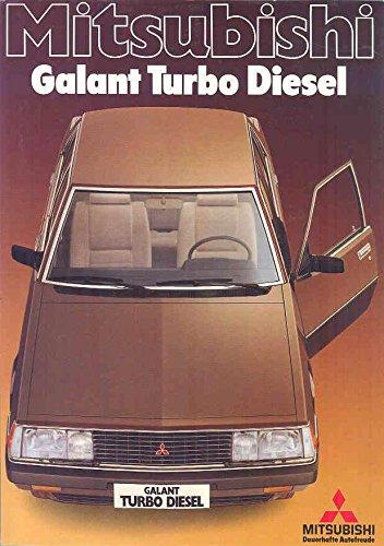 1983 Mitsubishi Galant Turbo Diesel Brochure German Mitsubishi Turbos