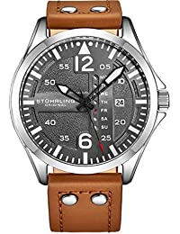 Mens Analog Stainless Steel Sport Aviator Watch,...