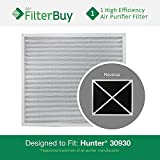 30930 Hunter HEPATech Air Purifier Replacement Filter. Fits Hunter Models: 30200, 30201, 30205, 30250, 30253, 30255, 30256, 30350, 30374, 30375, 30377, 30380, 30390, 37255 & 37375. Designed by FilterBuy in the USA!