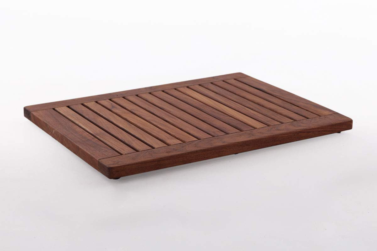 Nordic Style Teak Wood Shower Mat 23.6″ x 17.7″ with Frame