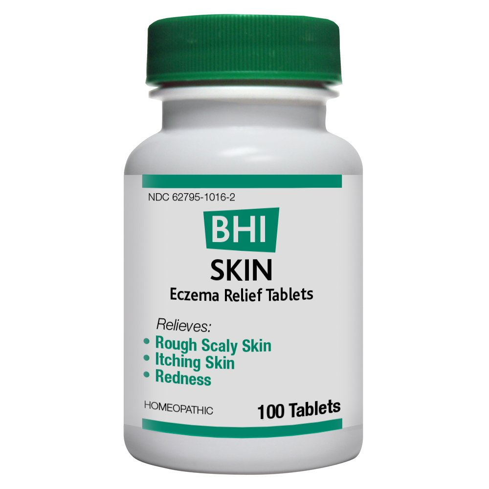 BHI Skin Eczema Relief Natural, Safe Homeopathic Relief - 100 Tablets