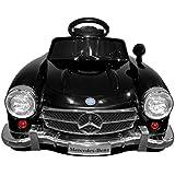 Elektroauto Kinderauto Elektrofahrzeug MP3 Fernbedienung für Kinder Mercedes-Benz 300SL Schwarz mit Fernsteuerung (Schwarz)