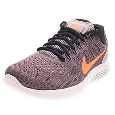 Nike Women's Lunarglide 8 Running Shoe (7.5 B(M) US, Plum Fog/Bright Mango)