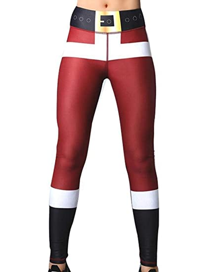 d08c978248 Image Unavailable. Image not available for. Color: Fenido High Waisted  Christmas Workout Leggings for Women Sport Yoga ...