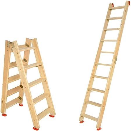 JB-TD Escalera De Madera, Escalera Plegable, Escaleras De Doble Lado Tipo Loft, Escalera Multifuncional para Uso Doméstico con Escalera Recta Portátil, 1/1.25/1.5M (Tamaño : 1.5m): Amazon.es: Hogar