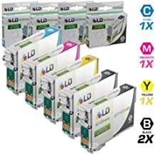 LD Products Remanufactured Ink Cartridge Replacement for Epson T125 ( Black,Cyan,Magenta,Yellow , 5-pack)