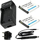 Battery (2-Pack) and Charger for Samsung WB150F, WB200F, WB250F, WB350F, WB800F, WB850F, WB1100F Digital Camera
