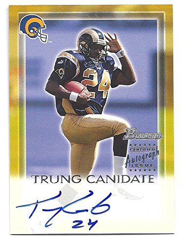 2000 Bowman Autographs - TRUNG CANIDATE 2000 Bowman AUTOGRAPH Rookie Card RC #TC St. Louis Rams Football
