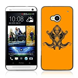 Designer Depo Hard Protection Case for HTC One M7 / Beautiful Virgo Zodiac Sign