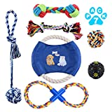 Dog Rope Toys for Aggressive Chewers, Indestructible Dog Chew Rope with IQ Treat Ball Durable Puppy Dog Toy Set for Small to Medium Breed