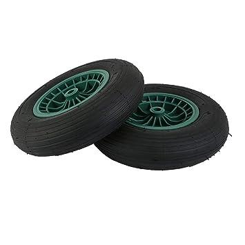 Pgige Neumático de Repuesto para Rueda de Carretilla, Carro de Carretilla de Goma Neumáticos Neumático