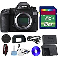 Canon 5DSR DSLR Camera + 16 GB SDHC Memory Card + Camera Cap + Strap + 6 PC Cleaning Kit - International Version