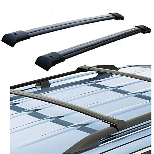 for 03-08 Honda Pilot Aluminum Roof Rack Rail Cross Bars Set Luggage Carrier