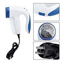 Asreal Decor Portable Electric Clothes Lint Pill Fluff Remover Fabrics Fuzz Shaver for Sweaters Curtains Carpets Remove the Pellets US Plug