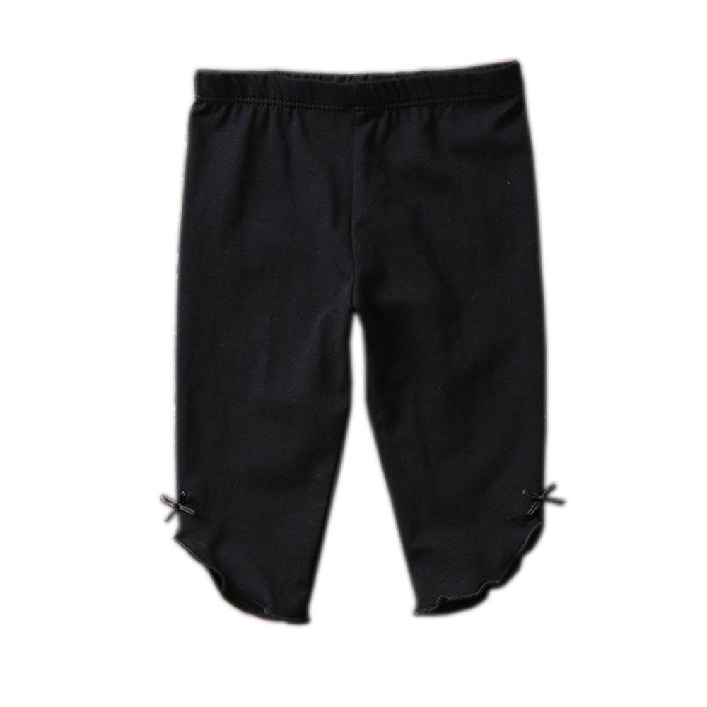 KIDS BRON Cotton Capri Crop Summer Leggings for School Or Play (3-Packs) (4T/Toddler Girl, 3pk-Capri BWP) by KIDS BRON (Image #2)