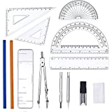 eBoot 13 Pieces Geometry Set Rulers Compass Review and Comparison