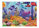 Kidz Valle Underwater 48 Pieces Tiling Puzzles (Jigsaw puzzles, Puzzles for Kids, Floor Puzzles), puzzles for kids age 4 years and above
