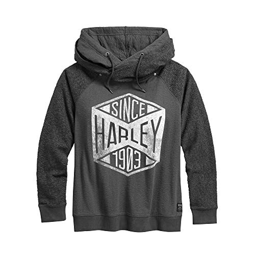 HARLEY-DAVIDSON Official Women's Since 1903 Pullover Hoodie, Grey (Large) from HARLEY-DAVIDSON