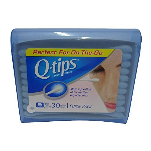 Q-tips Purse Pack - Q-Tips Cotton Swabs Travel Size, 30 count (Pack of 8)