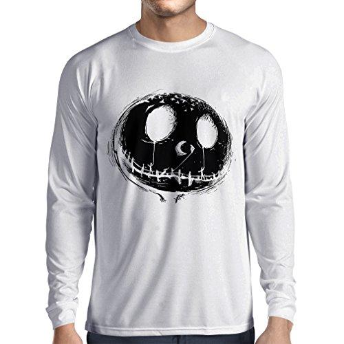 lepni.me Long Sleeve t Shirt Men Scary Skull
