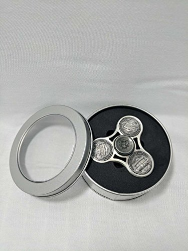 Penny Style Fidget Spinner Toy Stress Relief High Speed Hand Spinner by EZ Tech Easy Simple Smart (Silver)
